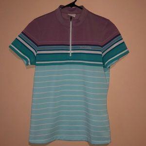 Columbia Sportswear Purple & Teal Athletic Top